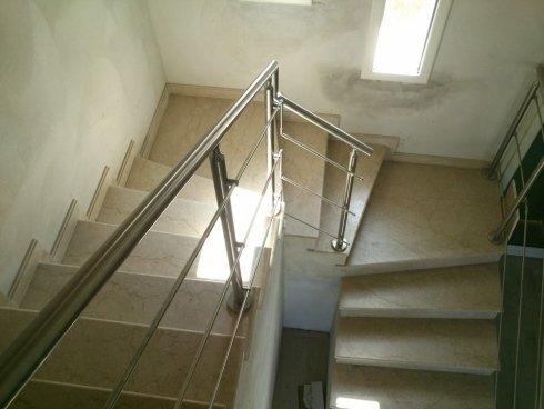 Ringhiera in acciaio inox per abitazione privata Allfer Castenedolo Brescia