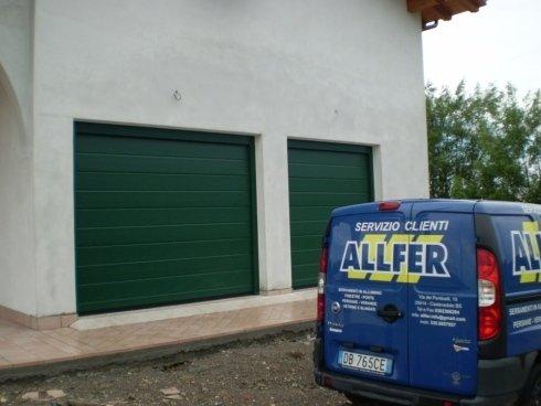 Porte sezionali per garage Allfer Castenedolo Brescia