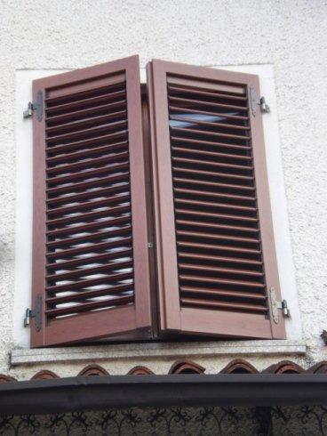 Persiana in alluminio effetto legno tipo orientabile Allfer Castenedolo Brescia