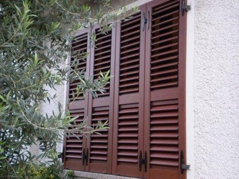 Persiana alluminio effetto legno tipo orientabile Allfer Castenedolo Brescia