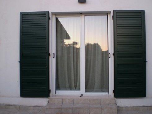Persiane in alluminio orientabili+ serramento in PVC Allfer Castenedolo Brescia