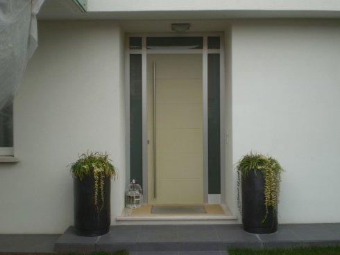 portoncino ingresso con vetri laterali Allfer Castenedolo Brescia