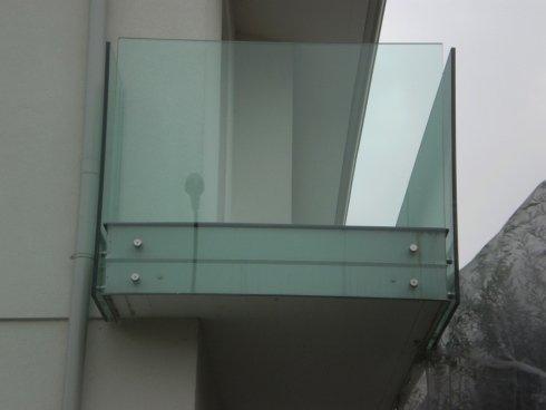 Parapetto per esterno in vetro Allfer Castenedolo Brescia